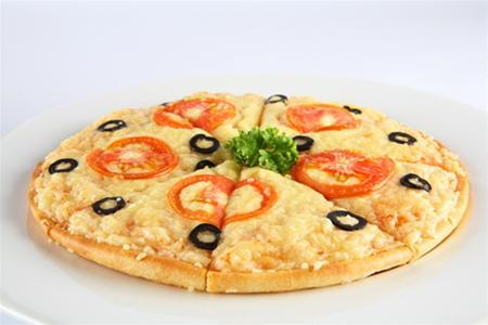 Pizza khoai lang chay